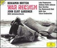 Britten: War Requiem - Anthony Rolfe Johnson (tenor); Bo Skovhus (baritone); Jürgen Lamke (organ); Luba Orgonasova (soprano); Monteverdi Choir (choir, chorus); NDR Chorus (choir, chorus); Tölzer Knabenchor (boy's choir); NDR Symphony Orchestra; John Eliot Gardiner (conductor)