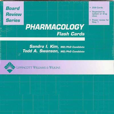 BRS Pharmacology Flash Cards - Kim, Sandra I, MD, PhD, and Swanson, Todd A