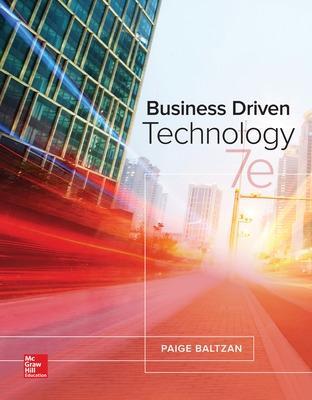 Business Driven Technology - Baltzan, Paige