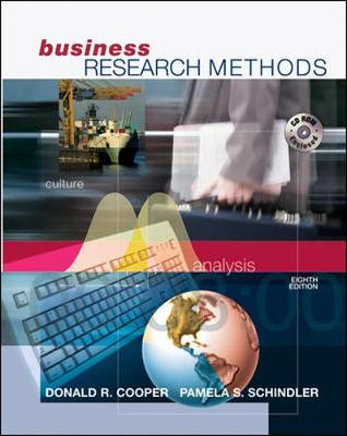 Business Research Methods with Student CD-ROM - Cooper, Donald R, and Schindler, Pamela