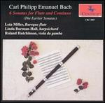 C.P.E. Bach: Six Sonatas for Flute and Continuo (The Earlier Sonatas)