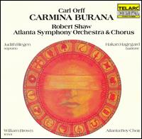 Carl Orff: Carmina Burana - Håkan Hagegård (baritone); Judith Blegen (soprano); William Brown (tenor); Atlanta Boys' Choir (choir, chorus);...