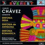 Carlos Chávez: Sinfonia India; Sinfonia de Antigona; Sinfonia Romantica