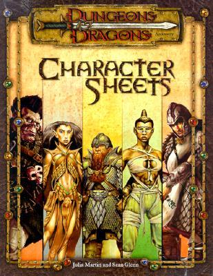 Character Sheets - Martin, Julia, and Glenn, Sean