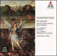 """Charpentier: Te Deum; Missa """"Assumpta est Maria"""" - Angus Davidson (high tenor vocal); Harvey Brough (tenor); John Toll (organ); Julian Clarkson (bass);..."""