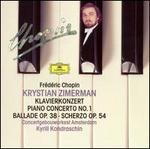 Chopin: Piano Concerto No. 1; Ballade Op. 38; Scherzo, Op. 54
