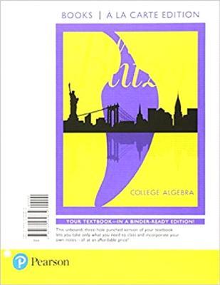 College Algebra, Books a la Carte Edition - Blitzer, Robert