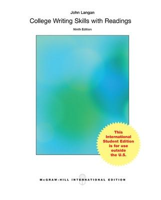 9781259060632 college writing skills with readings john langan college writing skills with readings langan john fandeluxe Choice Image