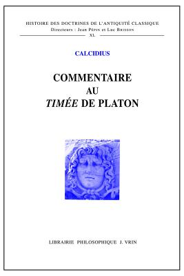 Commentaire Au Timee de Platon -