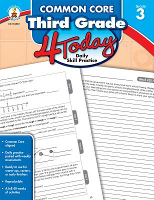 Common Core Third Grade 4 Today: Daily Skill Practice - Carson-Dellosa Publishing (Compiled by)