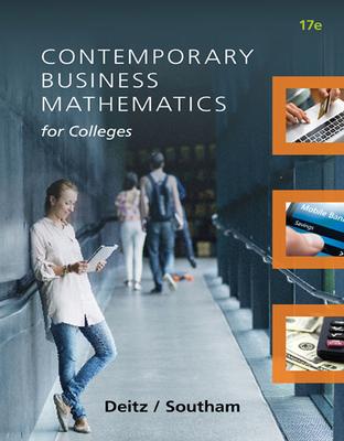 Contemporary Business Mathematics for Colleges - Deitz, James E