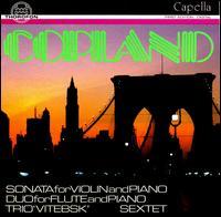Copland: Chamber Music - Göbel-Trio Berlin; Hans Maile (violin); Horst Gobel (piano); Martin Ulrich Senn (flute)