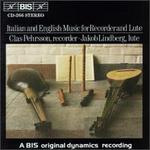 Italian and English Music for Recorder and Lute