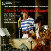 Treasures For Horn And Trumpet - Dallas Chamber Orchestra (chamber ensemble); David Battey (horn); Eric Barr (oboe); Gregory Hustis (horn);...