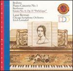 """Brahms: Piano Concerto No. 1; Beethoven: Sonata No. 8, Op. 13 (""""Path�tique"""")"""