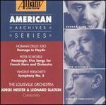 Music by Norman Dello Joio, Peter Schickele & Vincent Persichetti