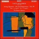 Vagn Holmboe: String Quartets, Vol. 3