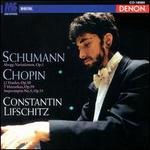 Schumann: Abegg Variationen, Op. 1; Chopin: 12 Etudes, Op. 10; 3 Mazurkas Op. 59; Impromptu No. 3 Op. 51