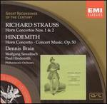 R. Strauss: Horn Concertos; Hindemith: Horn Concerto; Concert Music