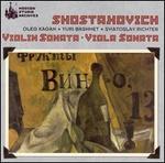 Shostakovich: Violin Sonata; Viola Sonata