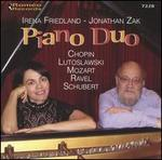 Piano Duo: Irena Friedland and Jonathan Zak