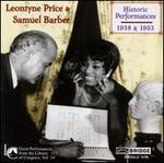 Leontyne Price & Samuel Barber: Historic Performances, 1938 & 1953