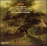 Weber: Piano Quartet; Trio for flute, cello and piano; Quintet for clarinet & strings
