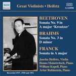 Beethoven: Violin Sonata No. 9 'Kreutzer'; Brahms: Violin Sonata No. 3 in D minor; Violin Sonata in A major