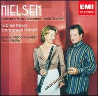 Nielsen: Clarinet & Flute Concertos; Wind Quintet - Emmanuel Pahud (flute); Jonathan Kelly (oboe); Jonathan Kelly (cor anglais); Radek Babor�k (french horn);...