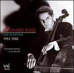 Leonard Rose Live in Recital, 1953-1960
