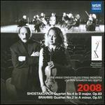 Shostakovich: String Quartet No. 4; Brahms: String Quartet No. 2