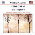 Ned Rorem: Three Symphonies