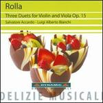 Rolla: Three Duets for Violin and Viola, Op. 15