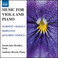 Music for Viola and Piano - Anthony Hewitt (piano); Sarah-Jane Bradley (viola)
