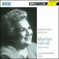 Rossini: Liederabend, 1992 - Marilyn Horne (vocals); Martin Katz (piano)
