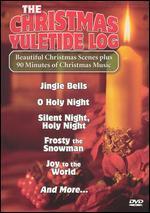 Christmas Yuletide Log and Christmas Scene