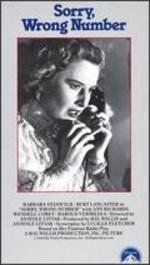 Sorry Wrong Number [Vhs]