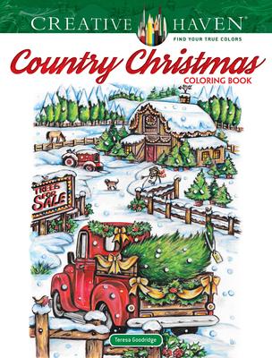 Creative Haven Country Christmas Coloring Book - Goodridge, Teresa