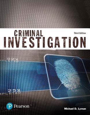 Criminal Investigation (Justice Series) - Lyman, Michael D.