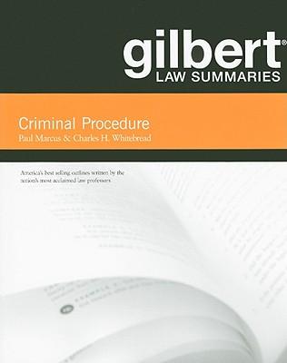 Criminal Procedure - Marcus, Paul, and Whitebread, Charles H, II