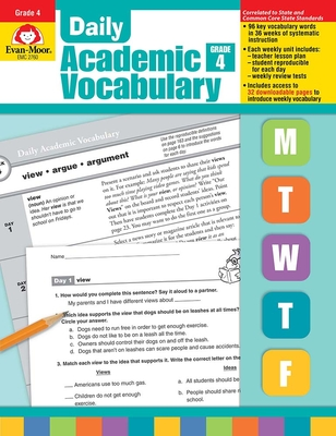 Daily Academic Vocabulary Grade 4 - Evan-Moor Educational Publishers