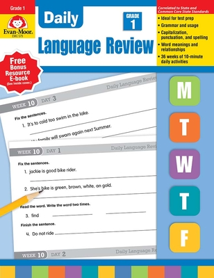 Daily Language Review Grade 1 - Evan-Moor Educational Publishers