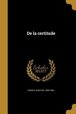 de La Certitude - Franck, Adolphe