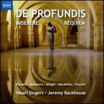 De Profundis, Miserere, Requiem - Daniel Burges (drums); Elizabeth J. Atkinson (alto); Jocelyn Somerville (soprano); Jon Thorne (viola); Julia Ridout (alto);...