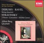 Debussy, Ravel: String Quartets; Stravinsky: 3 Pieces; Concertino; Double Canon