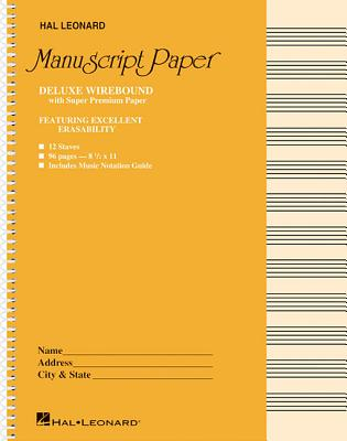 Deluxe Wirebound Super Premium Manuscript Paper (Gold Cover) - Hal Leonard Publishing Corporation (Creator)