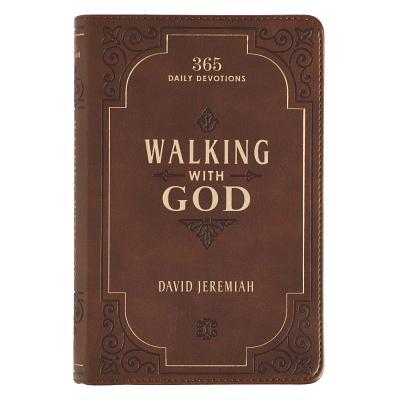 Devotional Luxleather Walking with God - Jeremiah, David, Dr.