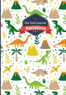 Dot Grid Journal - Dinosaurs: Soft Cover, 7x10 Inches, 130 Pages - Dot Grid Journal