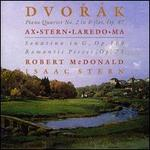 Dvorak: Piano Quartet No. 2 in E flat, Op. 87; Sonatina in G, Op. 100; Romantic Pieces, Op. 75