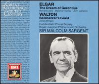 Elgar: The Dream of Gerontius; Walton: Belshazzar's Feast - James Milligan (bass baritone); John Cameron (baritone); Marjorie Thomas (mezzo-soprano); Richard Lewis (tenor); Huddersfield Choral Society (choir, chorus); Royal Liverpool Philharmonic Orchestra; Malcolm Sargent (conductor)